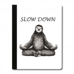 Tree-Free Yoga Sloth Eco Composition Book