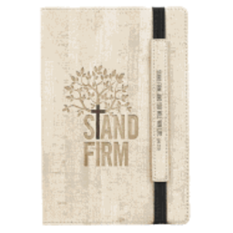 Journal: Taupe Elastic Closure Stand Firm