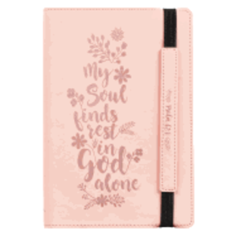 Journal: Pink Elastic Closure My Soul Finds Rest