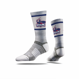 Strideline Premium Crew Socks, Grey