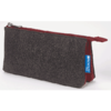 """Profolio Midtown Pouch 4""""x7"""" Charcoal/Maroon"""