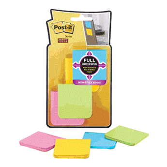 "Full Adhesive Post-it Notes, 2""x2"", 8 25-Sheet Pads, Brights"