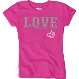 Blue 84 Youth Girls Dyed Tee - Confetti Pink
