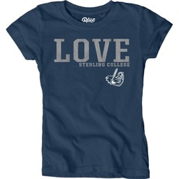 Blue 84 Youth Girls Dyed Tee - Shadow Blue