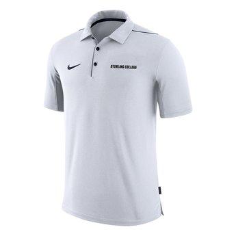 Nike Team Issue Polo - White & Navy