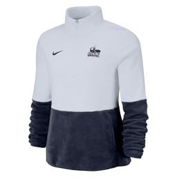Nike Micro Fleece Half Zip - Navy Blue & White