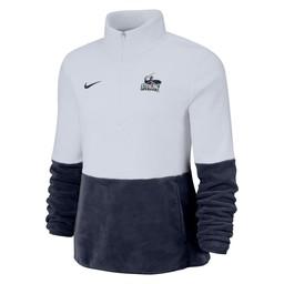 Nike Micro Fleece Half Zip - Navy Blue & White