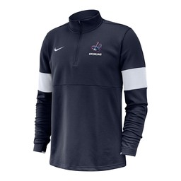Nike Coach Half Zip Top - Navy & White -