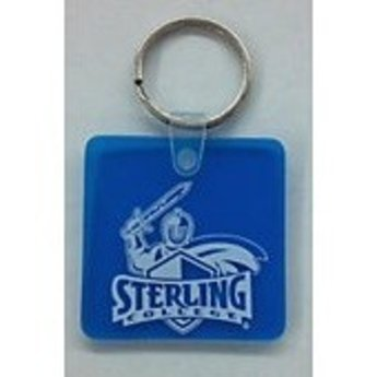 Key Ring, Sof-Touch, Blue Square