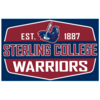 Blue 84 Sterling College Warriors Wood Rectangle Sign