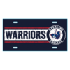 Blue 84 Warriors Metal License Plate