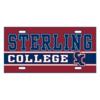 Blue 84 Sterling College Metal License Plate