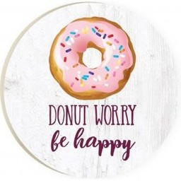 Car Coaster-Donut Worry Be Happy