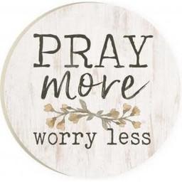 Car Coaster-Pray More Worry Less