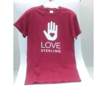 Love Sterling Tee - Cardinal Red