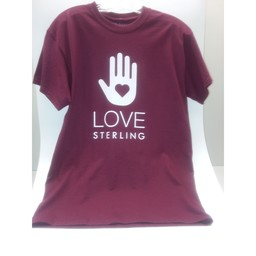 Love Sterling Tee - Maroon