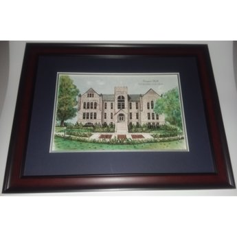 Cooper Hall Framed Watercolor Print