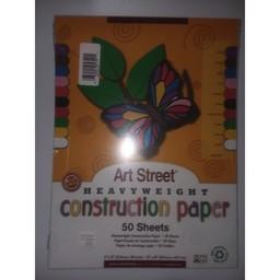 Art Street Construction Paper, Assorted, 50ct
