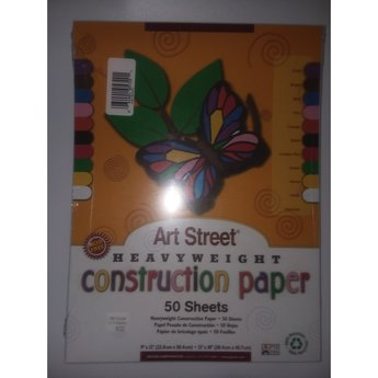 Art Street Construction Paper, Assorted, 50ct