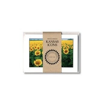 "Kansas Sunflower Note Cards, 8/pk, 4.25"" x 5.5"""