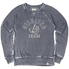 Blue 84 Burnout Fleece Crew - Navy Blue