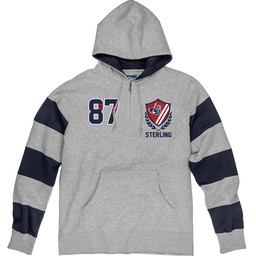 Blue 84 Reeves Rugby Hood - Heather Grey/Navy Blue