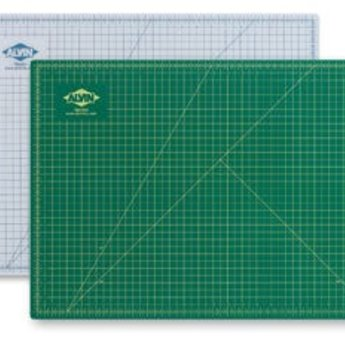 "Alvin Cutting Mat, Green/Black 	12"" × 18"""