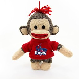 "Sock Monkey Baby, 6"" Curioso"