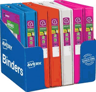 "Avery Durable View Binders with Slant Rings; 1"" Capacity"