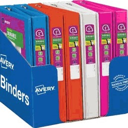 "Avery Durable View Binders with Slant Rings; 1-1/2"" Capacity"