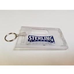 ID Holder Key Ring, Clear