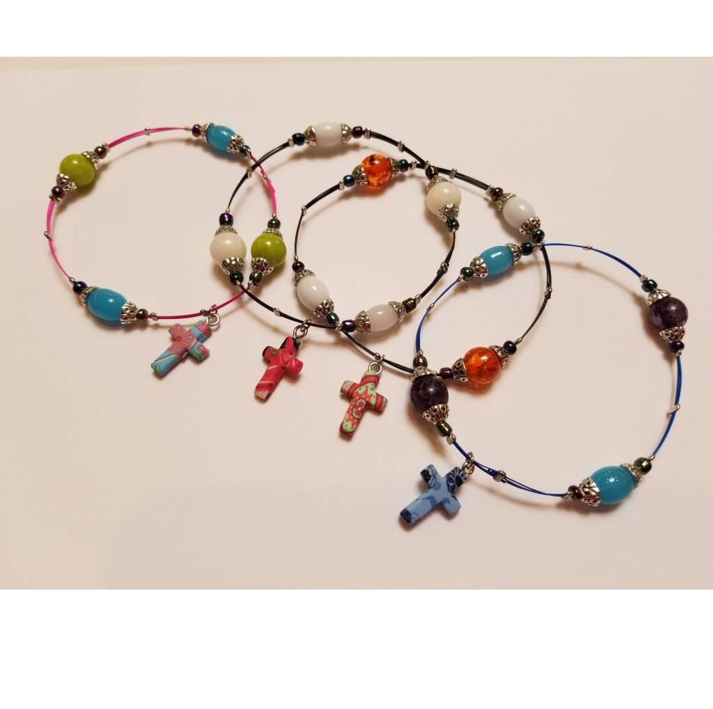Cross Whisper Bracelet, Assorted