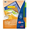 """Avery Big Tab™ Insertable Plastic Dividers, 9"""" x 11"""", 5 Multi-Color Tabs"""