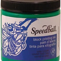 8 OZ BLOCK PRINTING INK, RED