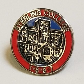 Red, Blue, & Silver Lapel Pin