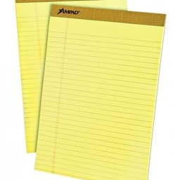 Ampad 8.5 in x 11.75 in, Canary, 50ct