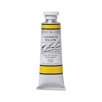 ARTISTS' OIL COLOR, CADMIUM YELLOW, 1.25 OZ.