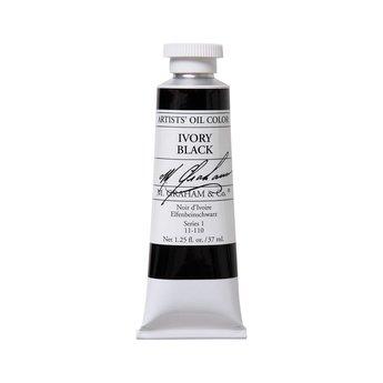 ARTISTS' OIL COLOR, IVORY BLACK, 1.25 OZ