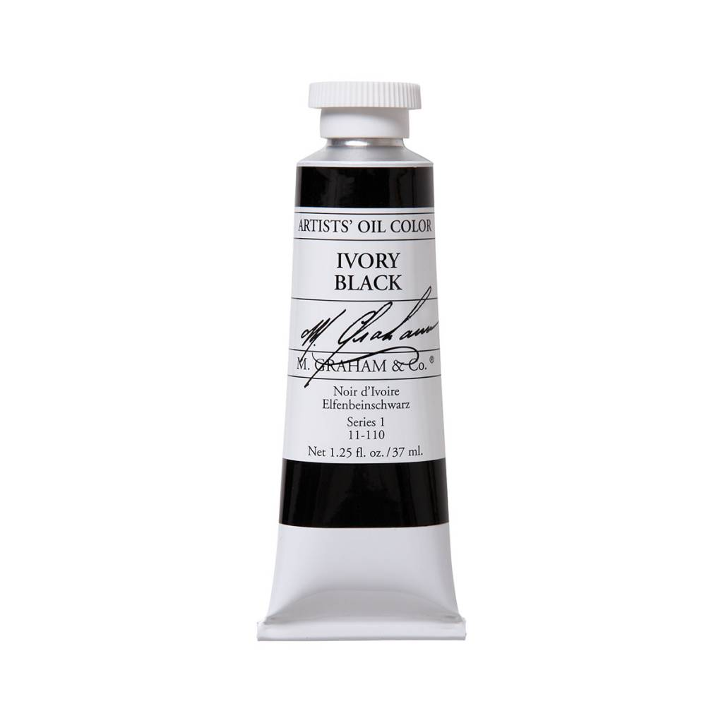 ARTISTS' OIL COLOR, IVORY BLACK, 1.25 OZ