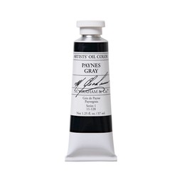 ARTISTS' OIL COLOR, PAYNES GRAY, 1.25 OZ.
