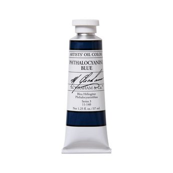 ARTISTS' OIL COLOR, PHTHALO BLUE, 1.25 OZ