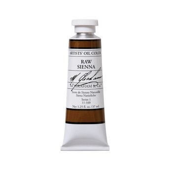 ARTISTS' OIL COLOR, RAW SIENNA, 1.25 OZ