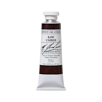 ARTISTS' OIL COLOR, RAW UMBER, 1.25 OZ