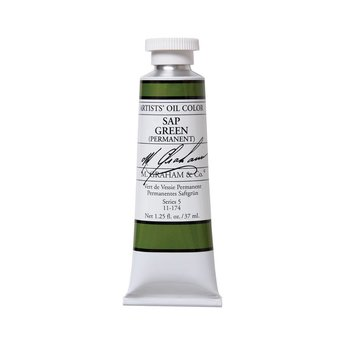 ARTISTS' OIL COLOR, SAP GREEN PERMANENT, 1.25 OZ