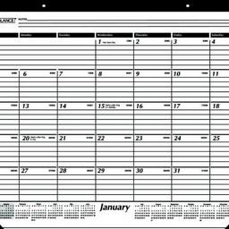 At-A-Glance 2020 Calendar Year Desk Pad Calendar