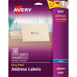 Avery Clear Address Labels, 750ct