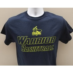 Men's Basketball Tee, Navy