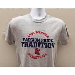 Women's Basketball Tee, Grey Tradition