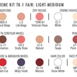 TK1 FAIR:LT-MED THEATRICAL MAKEUP KIT