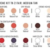 TK2 FAIR:MED-TAN THEATRICAL MAKEUP KIT